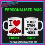I LOVE HEART SNOOKER PERSONALISED MUG BIRTHDAY GIFT